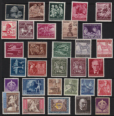 German Stamps Third Reich Mint Issues  from Old Album VGCV