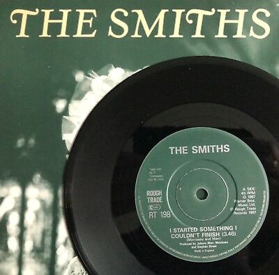 """THE SMITHS -I Started Something- Rare UK Solid Centre 7""""  (Vinyl Record)"""
