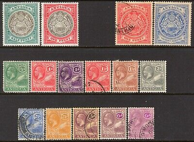 Antigua 1903-29 Small Selection M/Mint-Used (All Different)
