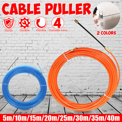5m-40m 4mm Nylon Cable Fish Draw Tape Electrical Cable Puller Pulling Tools