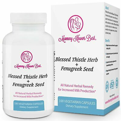 Mommy Knows Best Fenugreek and Blessed Thistle Lactation Aid Support