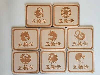 A set of 8 First Player Markers for the Legend of the Five Rings LCG