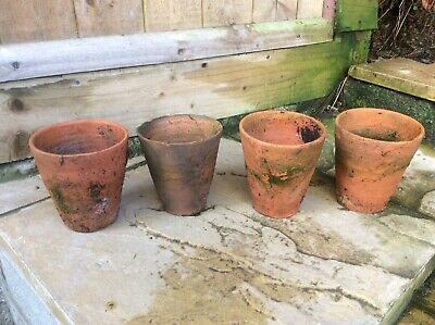 Antique Terracotta Plant Pots 4 1/2 Inch