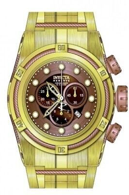Invicta Bolt Chronograph Brown Dial Gold-plated Men's Watch 12739