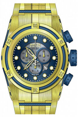 Invicta Bolt Reserve Chronograph Blue Dial Gold Ion-plated Men's Watch 12742