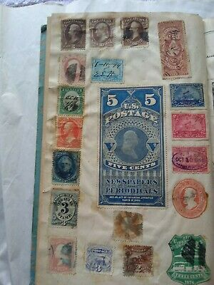 Scott 9th ed. 1886 Postage Stamps. Choca-a -bloc full of early U.S. stamps Nice