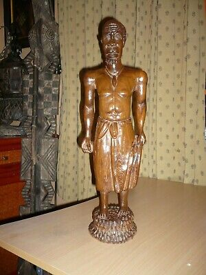 Statue Africaine Authentique   H  55 Cm