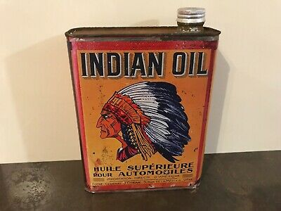 Bidon Huile  Latta Oil Bidone  Känne  Öldose  Indian Oil