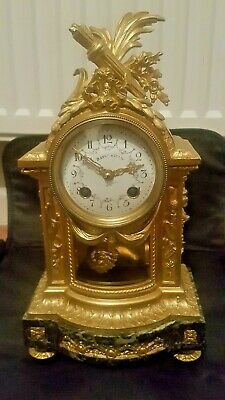 Fine Ormolu Antique French Clock By Maple & Co Superb Condition