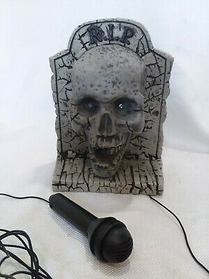 TAKE ONE VOICE Changer Microphone Halloween Prop Grave Tombstone Talking  Skull
