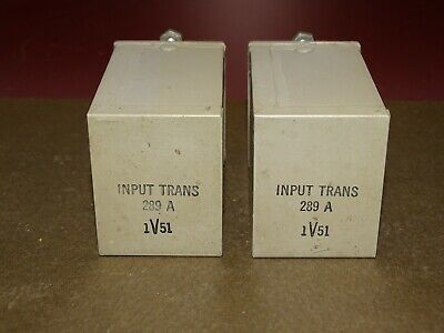 Pair, Western Electric Type 289A Input Transformers, Good