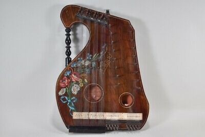 "i32m36- Alte Zither ""Salon-Harfe Valencia"""