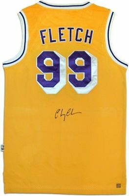 d99d63ced5f Chevy Chase FLETCH Auographed Signed Los Angeles Lakers Yellow Jersey ASI  Proof