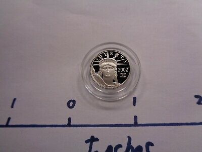 1/10 Oz 2002-W Platinum $10 American Eagle .9995 Proof Coin Rare Sure To Go Up