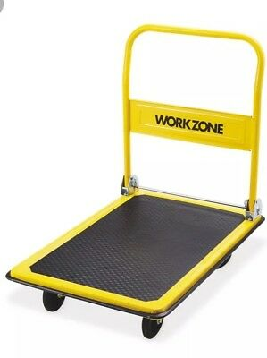 Heavy Duty Platform Trolley Hand Truck 300kg Flat Bed Folding Handle £20 Collect