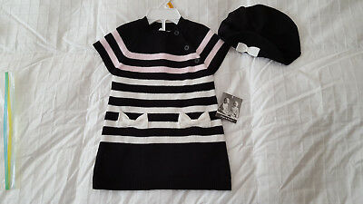 7936c1e7e1c NWT Piper   Posie Girl s Sweater Dress   Beret Hat Outfit Sz. ...