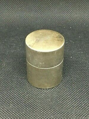 Vintage Tiffany & Co. Cylinder Pill Box In Sterling Silver