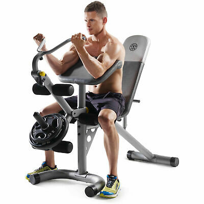 Weight Lifting Bench Press Exercise Legs Fitness Workout Golds Gym XRS20 NEW