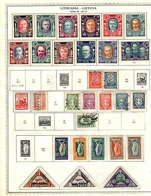 Lithuania mint hinged and used 5 scans Cat $89.00 108 stamps