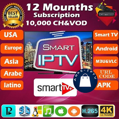 1year iptv Subscription Mag Android smart TV m3u world iptv USA Europe Latino AR
