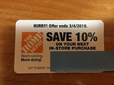 Home Depot Coupon 10% Off In Store