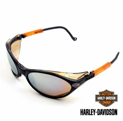 Harley Davidson Bar & Shield Gold Mirror Lens Safety Eyewear Glasses Sunglasses