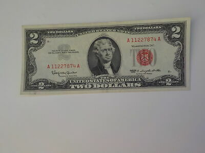 Currency Note 1963 2 Dollar Bill Red Seal Note Paper Money United States USA
