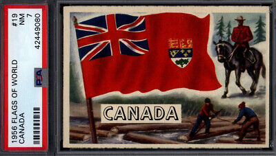 1956 Topps Flags of the World #19 Canada PSA 7 *692422