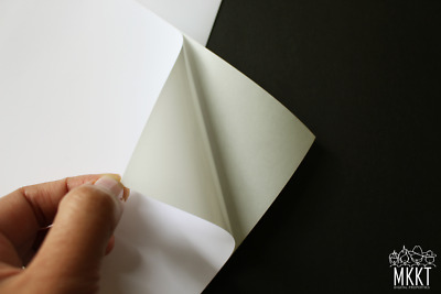 A4 105gsm Premium Quality Matte Adhesive/Sticker Paper, 100 Sheets/20 Sheets