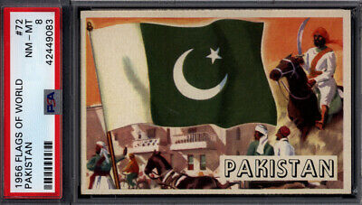 1956 Topps Flags of the World #72 Pakistan PSA 8 *692421