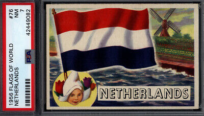 1956 Topps Flags of the World #76 Netherlands PSA 7 *692424