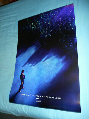 Keanu Reeves JOHN WICK CHAPTER 3 PARABELLUM orig movie poster one sheet DS 27x40