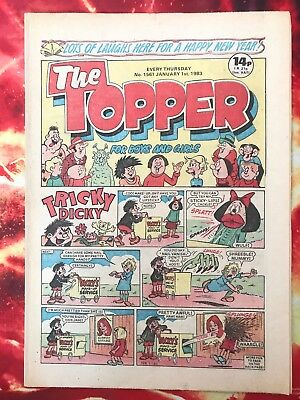 The Topper Comic 1 Jan 1983. No.1561 New Year - Unsold Newsagents Stock  Nr Mint