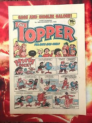 The Topper Comic 12 Nov 1983. No.1606 Unread Unsold Newsagents Stock  Nr Mint