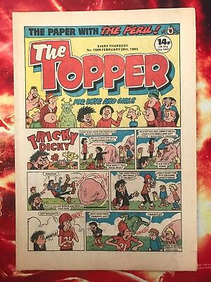 The Topper Comic 26 Feb 1983. No.1569 Unread Unsold Newsagents Stock  Nr Mint
