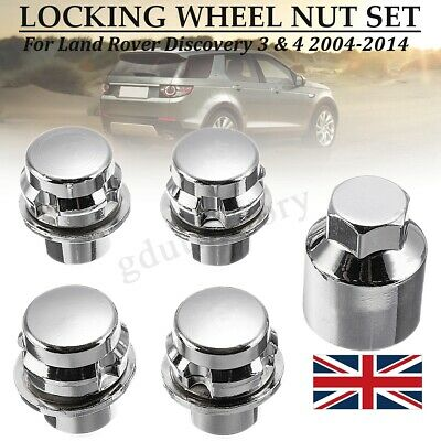 Set of 20 x Black Land Rover Discovery 3 Range Rover Sport Solid Wheel Nuts