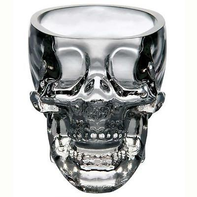 Crystal Skull Head Vodka Whiskey Shot Glass Cup Drinking Ware Home Bar GC5WW}f