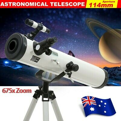 675x Zoom Astronomical Telescope 114mm Aperture High Resolution Night Vision FLC