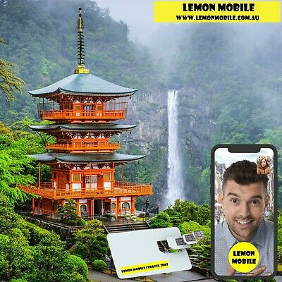 From $1.8 a day! 7/15 Days Japan Travel SIM Card |Unlimited Data |Softbank Netwk