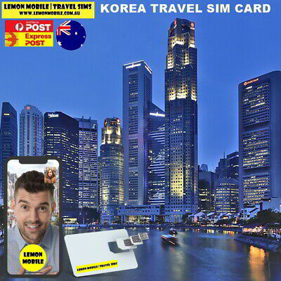 From $1.8 a day! 7/15 Days S. Korea Travel SIM Card | Unlimited Data SK Telecom