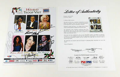 Kid Rock + 5 Others Signed USO Holiday Promo 8 x 10 5 PSA/DNA Autos