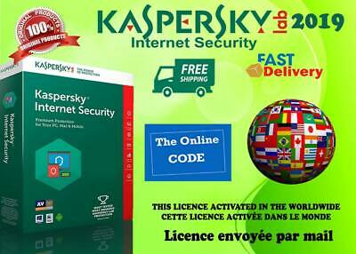Kaspersky Internet Security Multidevice 2019- 1 An Licence envoyée par mail