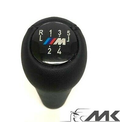 5 Speed Gear Knob Shift Leather M sport for BMW E36 E46 E90 E91 E92 E39 E60 NEW