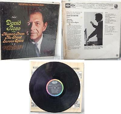 David Rose Vinyl LP Album plays Themes From The Great Screen Epics Capitol Rec