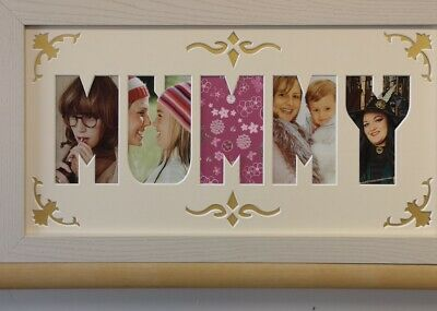 MUMMY Word Photo Mount with Frame * Mothers Day Gift * Decorative