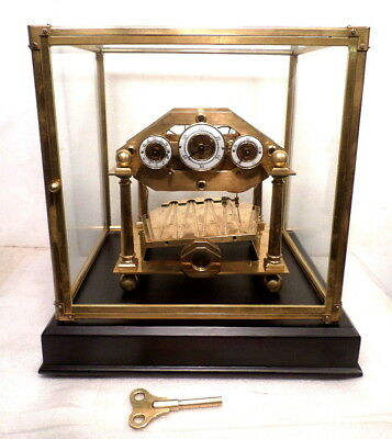 Traditional FUSEE Comitti Style William Congreve Rolling Ball Clock--BALL MOVING