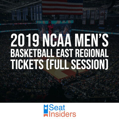 2019 NCAA Men's Basketball East Regional Tickets All Session 3/29 & 3/31 Sec 420