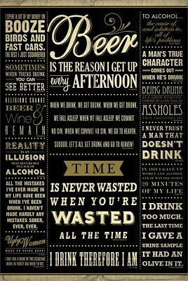 Poster Drinking Quotes 61x91.5cm