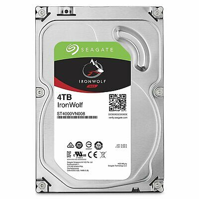 4TB Seagate IronWolf NAS SATA 6Gb/s NCQ 64MB Cache 3.5-Inch Internal Hard Drive