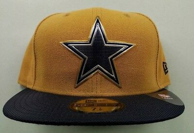 DALLAS COWBOYS NFL  OFFICIAL  New Era  GOLD COLOR  Fitted Hat Size - fc6fa2522